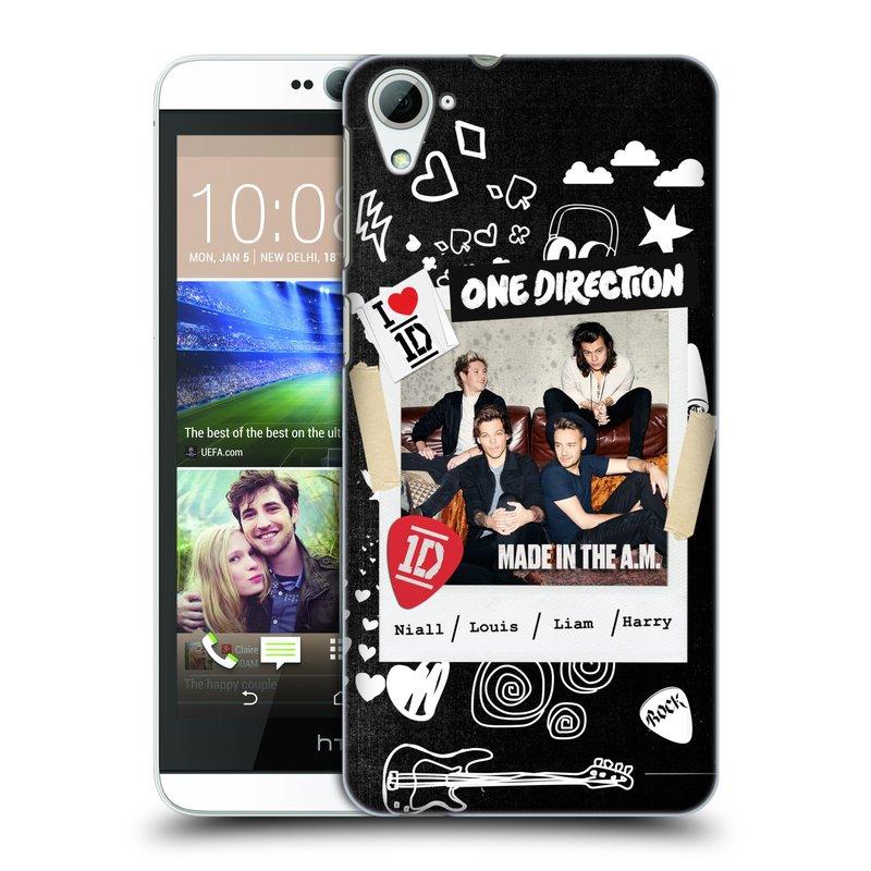 Plastové pouzdro na mobil HTC Desire 826 HEAD CASE One Direction - S kytárou (Kryt či obal One Direction Official na mobilní telefon HTC Desire 826 Dual SIM)