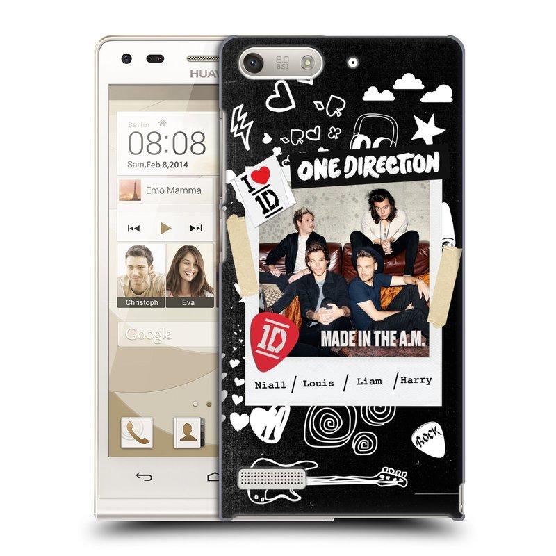 Plastové pouzdro na mobil Huawei Ascend G6 HEAD CASE One Direction - S kytárou (Kryt či obal One Direction Official na mobilní telefon Huawei Ascend G6 bez LTE)
