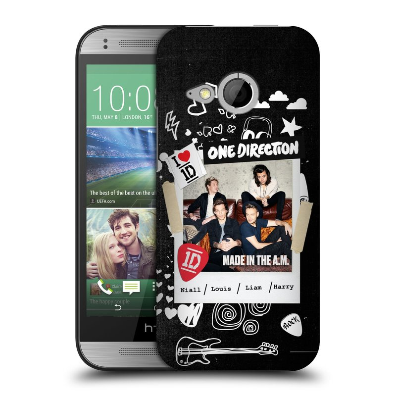 Plastové pouzdro na mobil HTC ONE Mini 2 HEAD CASE One Direction - S kytárou (Kryt či obal One Direction Official na mobilní telefon HTC ONE Mini 2)