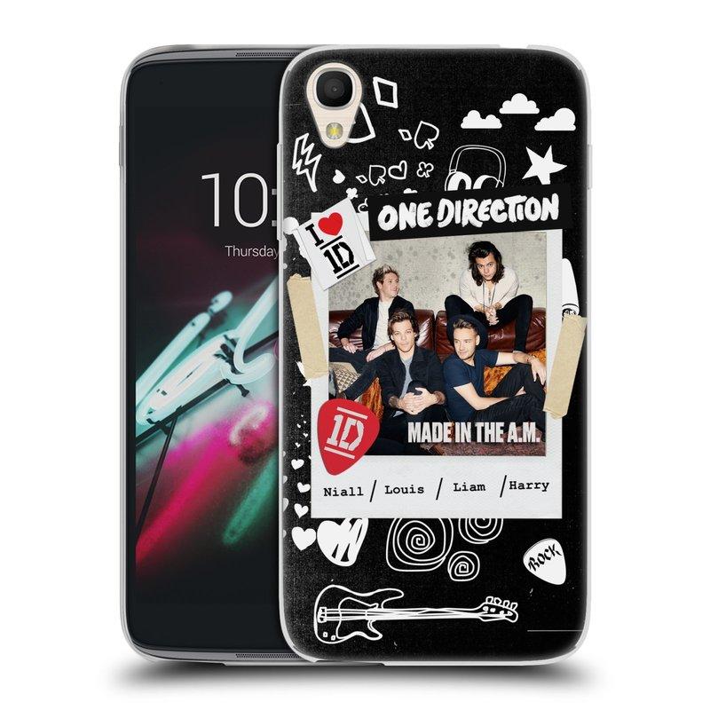 "Silikonové pouzdro na mobil Alcatel One Touch 6039Y Idol 3 HEAD CASE One Direction - S kytárou (Silikonový kryt či obal One Direction Official na mobilní telefon Alcatel One Touch Idol 3 OT-6039Y s 4,7"" displejem)"