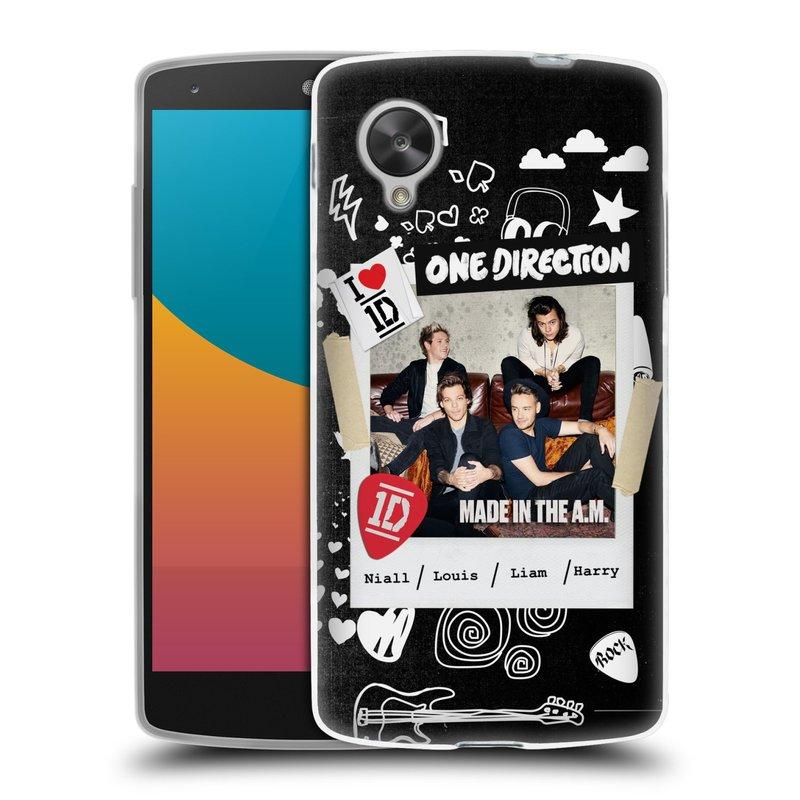 Silikonové pouzdro na mobil LG Nexus 5 HEAD CASE One Direction - S kytárou (Silikonový kryt či obal One Direction Official na mobilní telefon LG Google Nexus 5 D821)