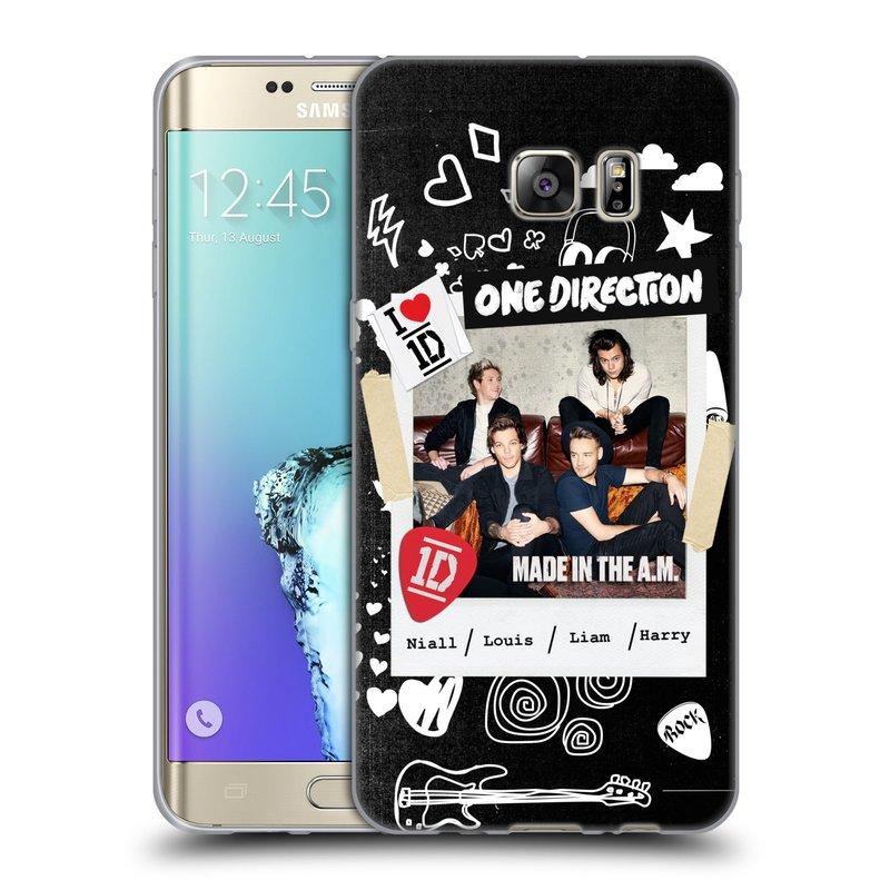 Silikonové pouzdro na mobil Samsung Galaxy S6 Edge Plus HEAD CASE One Direction - S kytárou (Silikonový kryt či obal One Direction Official na mobilní telefon Samsung Galaxy S6 Edge Plus SM-G928F)