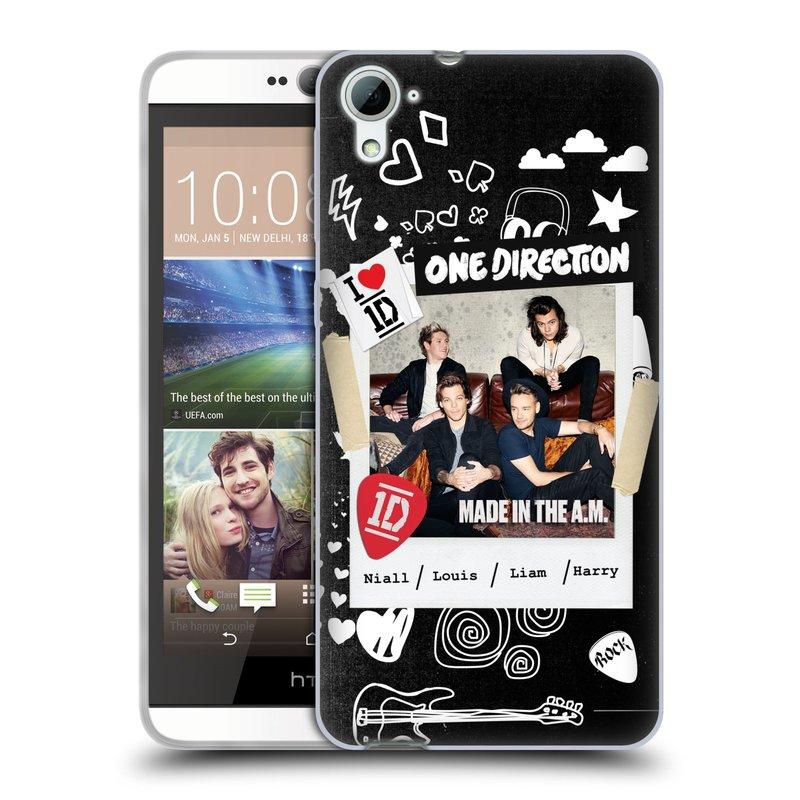 Silikonové pouzdro na mobil HTC Desire 826 HEAD CASE One Direction - S kytárou (Silikonový kryt či obal One Direction Official na mobilní telefon HTC Desire 826 Dual SIM)