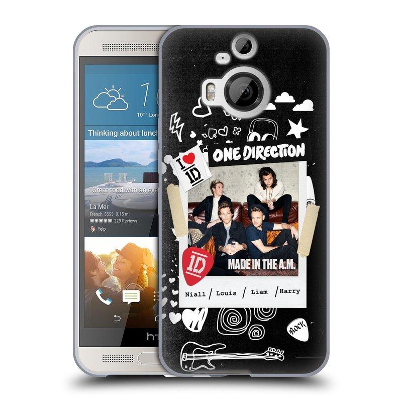 Silikonové pouzdro na mobil HTC One M9+ (Plus) HEAD CASE One Direction - S kytárou (Silikonový kryt či obal One Direction Official na mobilní telefon HTC One M9+)