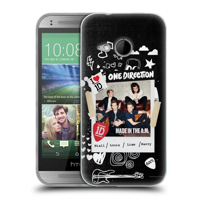 Silikonové pouzdro na mobil HTC ONE Mini 2 HEAD CASE One Direction - S kytárou (Silikonový kryt či obal One Direction Official na mobilní telefon HTC ONE Mini 2)