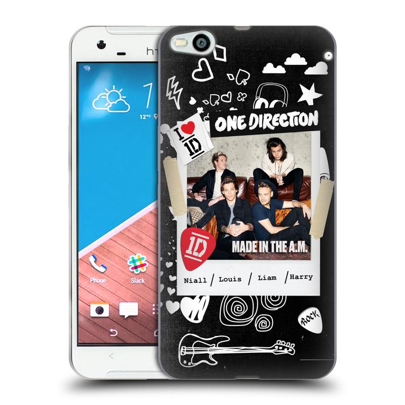 Silikonové pouzdro na mobil HTC One X9 HEAD CASE One Direction - S kytárou (Silikonový kryt či obal One Direction Official na mobilní telefon HTC One X9)