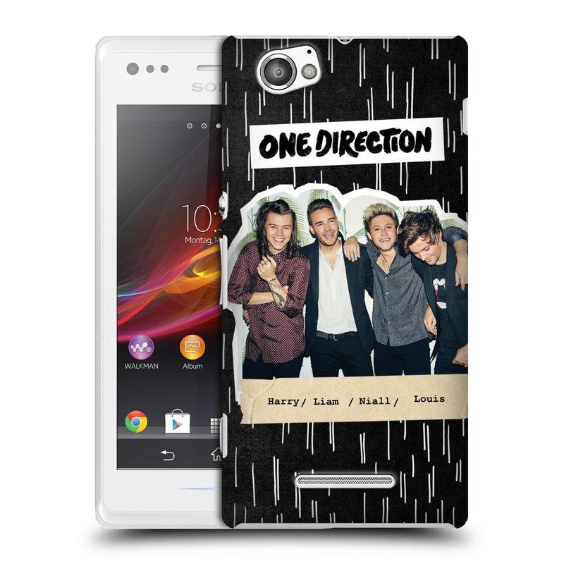 Plastové pouzdro na mobil Sony Xperia M C1905 HEAD CASE One Direction - Sticker Partička (Kryt či obal One Direction Official na mobilní telefon Sony Xperia M )
