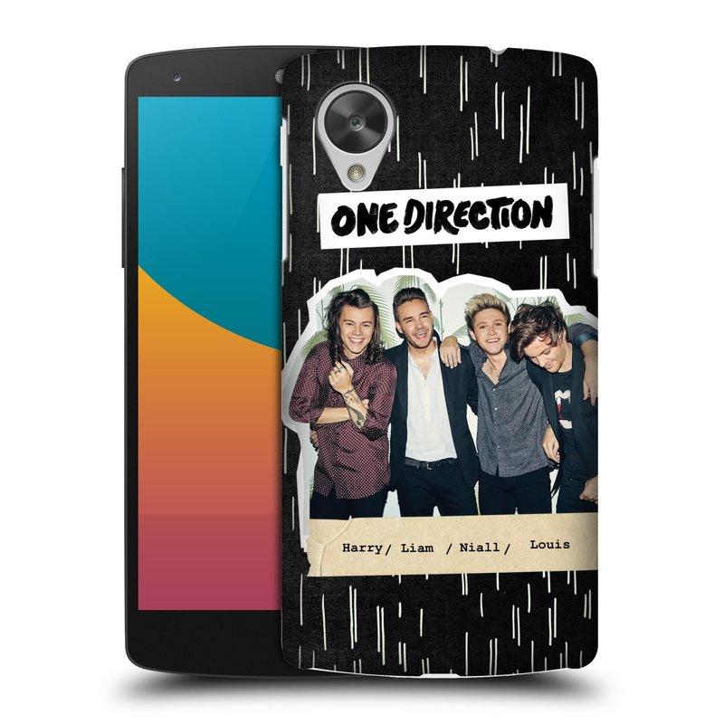 Plastové pouzdro na mobil LG Nexus 5 HEAD CASE One Direction - Sticker Partička (Kryt či obal One Direction Official na mobilní telefon LG Google Nexus 5 D821)