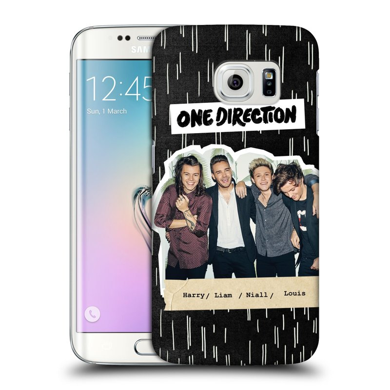 Plastové pouzdro na mobil Samsung Galaxy S6 Edge HEAD CASE One Direction - Sticker Partička (Kryt či obal One Direction Official na mobilní telefon Samsung Galaxy S6 Edge SM-G925F)
