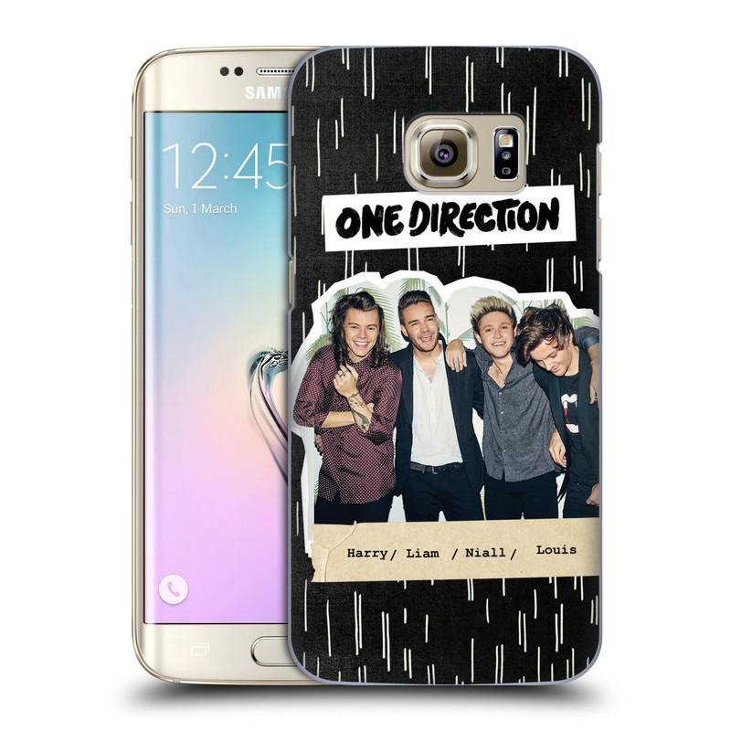 Plastové pouzdro na mobil Samsung Galaxy S7 Edge HEAD CASE One Direction - Sticker Partička (Kryt či obal One Direction Official na mobilní telefon Samsung Galaxy S7 Edge SM-G935F)