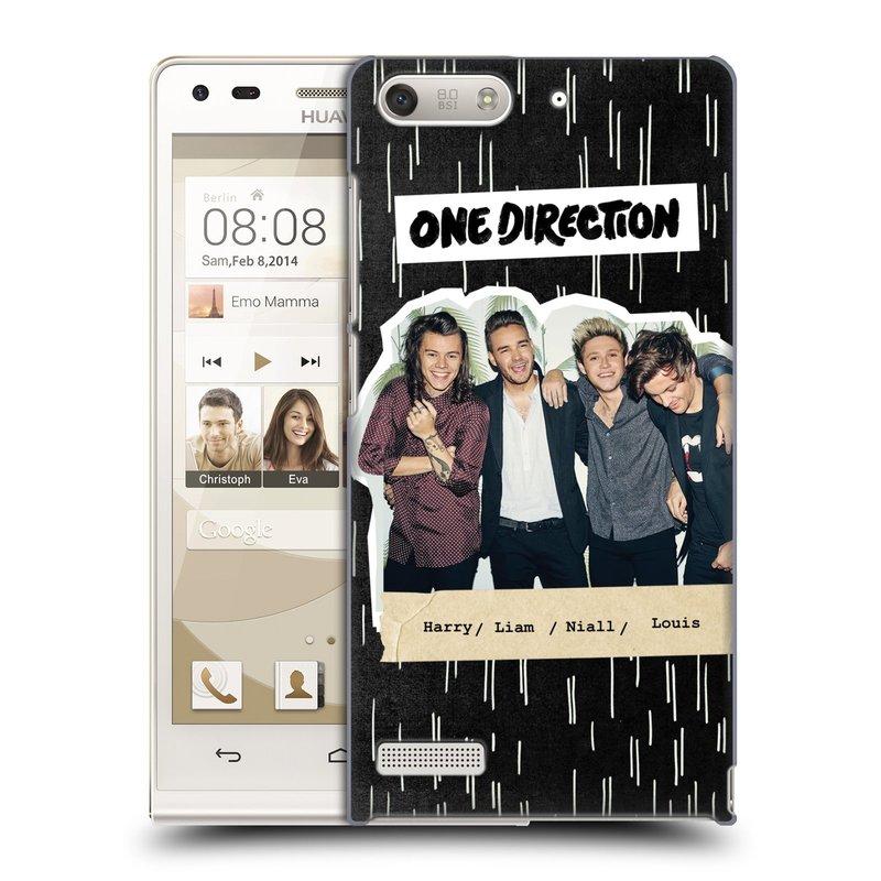 Plastové pouzdro na mobil Huawei Ascend G6 HEAD CASE One Direction - Sticker Partička (Kryt či obal One Direction Official na mobilní telefon Huawei Ascend G6 bez LTE)