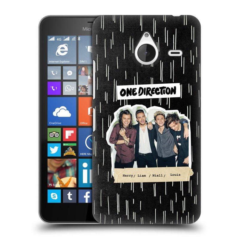 Plastové pouzdro na mobil Microsoft Lumia 640 XL HEAD CASE One Direction - Sticker Partička (Kryt či obal One Direction Official na mobilní telefon Microsoft Lumia 640 XL)