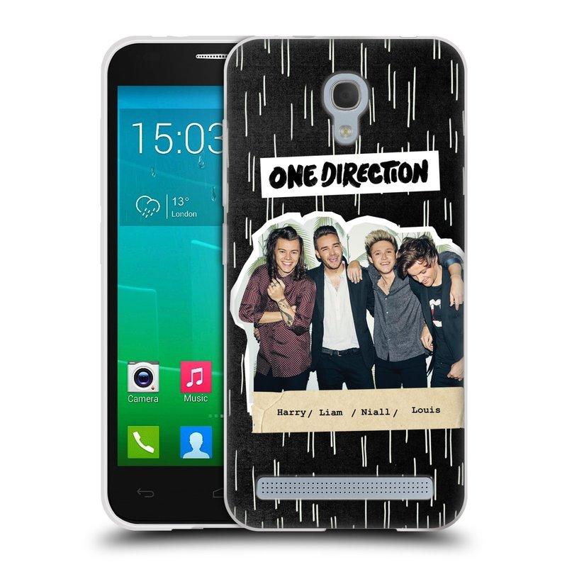 Silikonové pouzdro na mobil Alcatel One Touch Idol 2 Mini S 6036Y HEAD CASE One Direction - Sticker Partička (Silikonový kryt či obal One Direction Official na mobilní telefon Alcatel Idol 2 Mini S OT-6036Y)