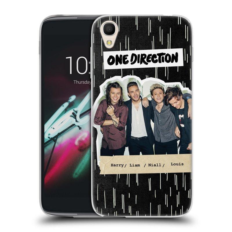 """Silikonové pouzdro na mobil Alcatel One Touch 6039Y Idol 3 HEAD CASE One Direction - Sticker Partička (Silikonový kryt či obal One Direction Official na mobilní telefon Alcatel One Touch Idol 3 OT-6039Y s 4,7"""" displejem)"""