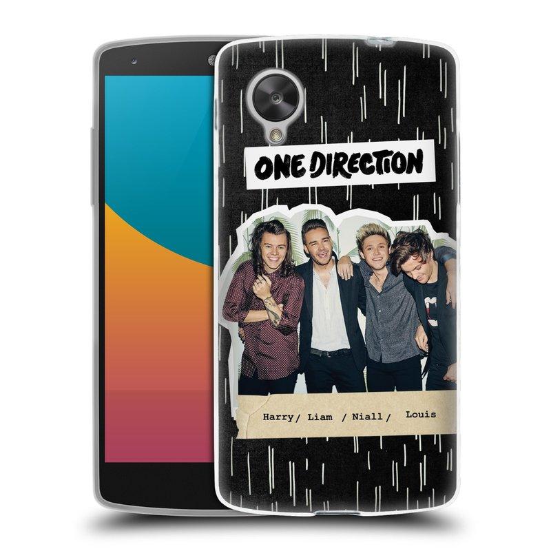 Silikonové pouzdro na mobil LG Nexus 5 HEAD CASE One Direction - Sticker Partička (Silikonový kryt či obal One Direction Official na mobilní telefon LG Google Nexus 5 D821)