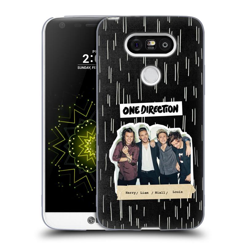 Silikonové pouzdro na mobil LG G5 HEAD CASE One Direction - Sticker Partička (Silikonový kryt či obal One Direction Official na mobilní telefon LG G5 H850)