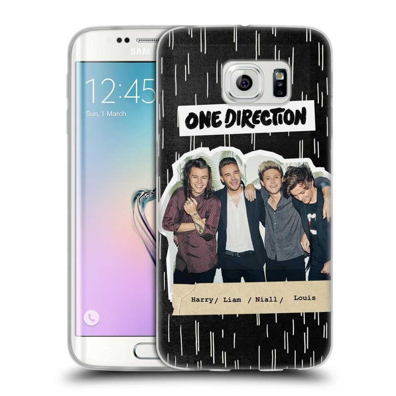 Silikonové pouzdro na mobil Samsung Galaxy S6 Edge HEAD CASE One Direction - Sticker Partička (Silikonový kryt či obal One Direction Official na mobilní telefon Samsung Galaxy S6 Edge SM-G925F)