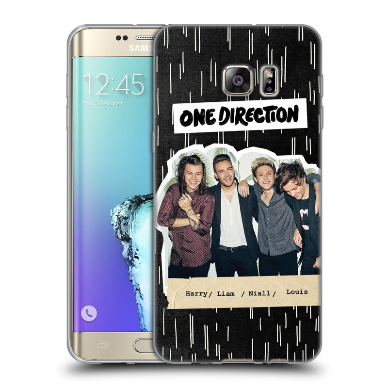 Silikonové pouzdro na mobil Samsung Galaxy S6 Edge Plus HEAD CASE One Direction - Sticker Partička (Silikonový kryt či obal One Direction Official na mobilní telefon Samsung Galaxy S6 Edge Plus SM-G928F)