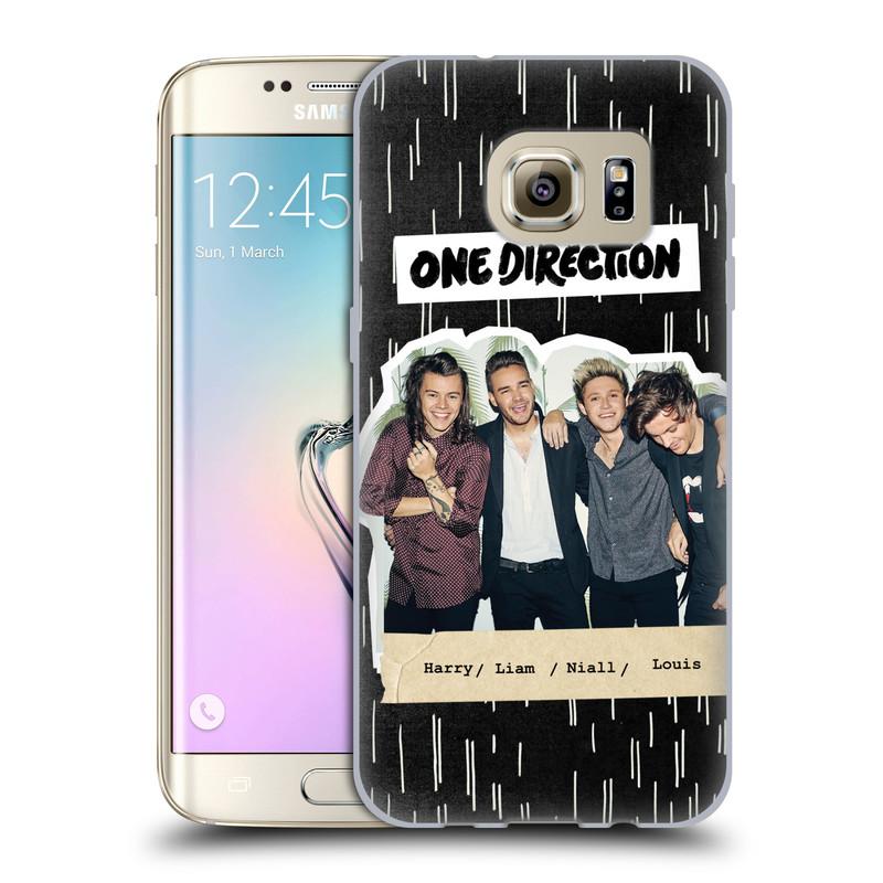 Silikonové pouzdro na mobil Samsung Galaxy S7 Edge HEAD CASE One Direction - Sticker Partička (Silikonový kryt či obal One Direction Official na mobilní telefon Samsung Galaxy S7 Edge SM-G935F)
