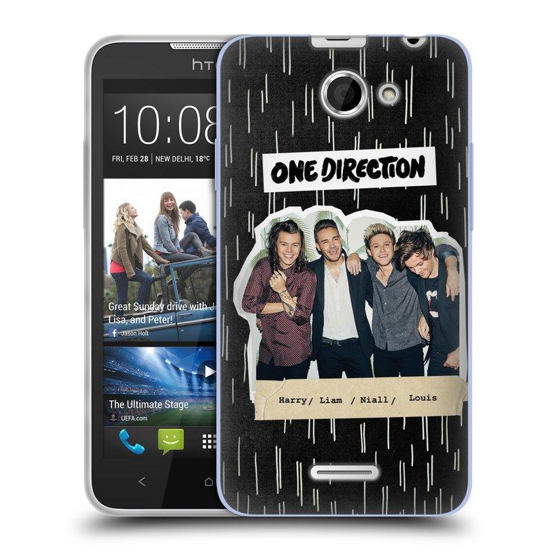 Silikonové pouzdro na mobil HTC Desire 516 HEAD CASE One Direction - Sticker Partička (Silikonový kryt či obal One Direction Official na mobilní telefon HTC Desire 516 Dual SIM)