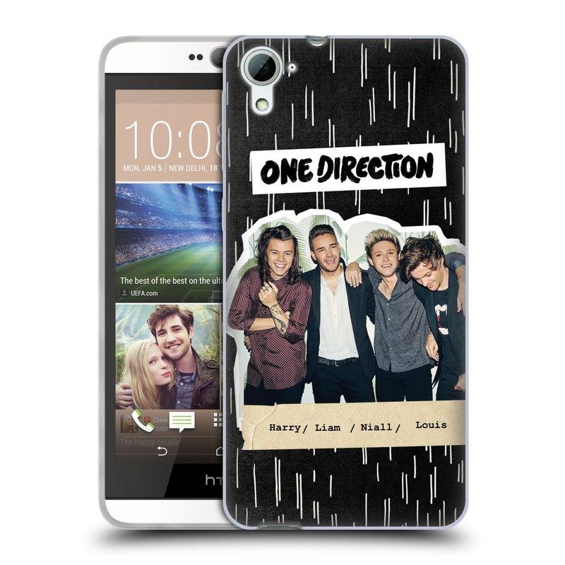 Silikonové pouzdro na mobil HTC Desire 826 HEAD CASE One Direction - Sticker Partička (Silikonový kryt či obal One Direction Official na mobilní telefon HTC Desire 826 Dual SIM)
