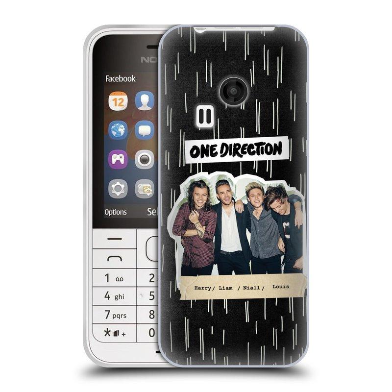 Silikonové pouzdro na mobil Nokia 220 HEAD CASE One Direction - Sticker Partička (Silikonový kryt či obal One Direction Official na mobilní telefon Nokia 220 a 220 Dual SIM)