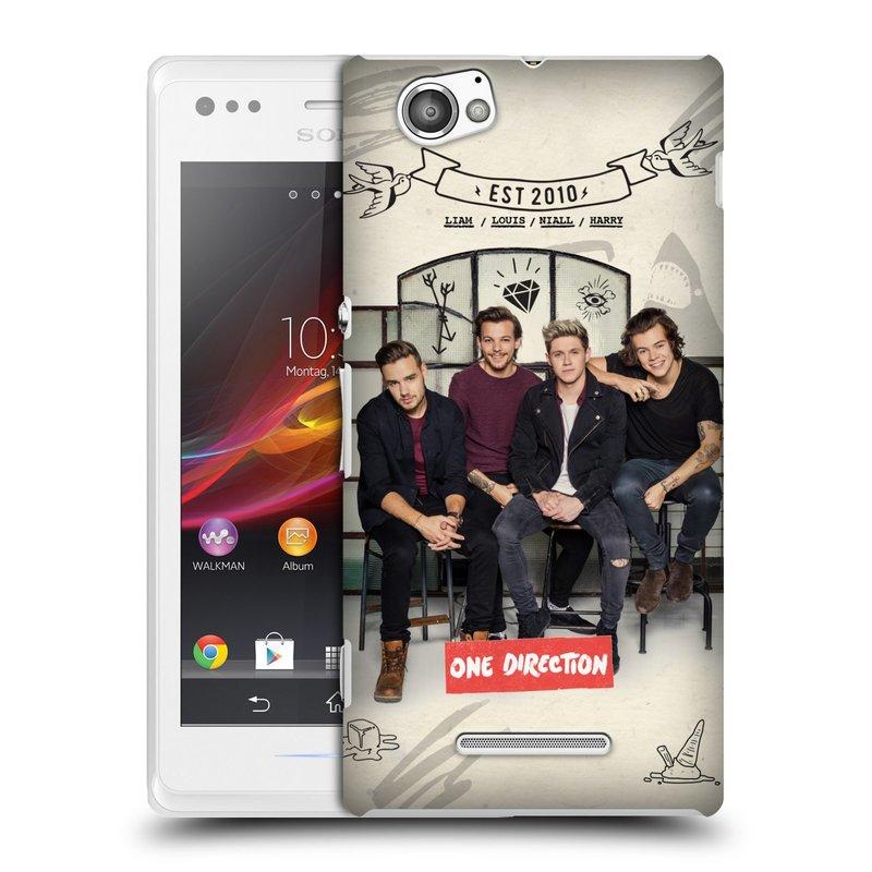 Plastové pouzdro na mobil Sony Xperia M C1905 HEAD CASE One Direction - EST 2010 (Kryt či obal One Direction Official na mobilní telefon Sony Xperia M )
