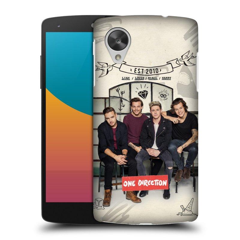 Plastové pouzdro na mobil LG Nexus 5 HEAD CASE One Direction - EST 2010 (Kryt či obal One Direction Official na mobilní telefon LG Google Nexus 5 D821)