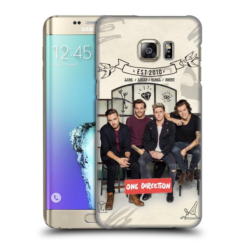 Plastové pouzdro na mobil Samsung Galaxy S6 Edge Plus HEAD CASE One Direction - EST 2010 (Kryt či obal One Direction Official na mobilní telefon Samsung Galaxy S6 Edge Plus SM-G928F)