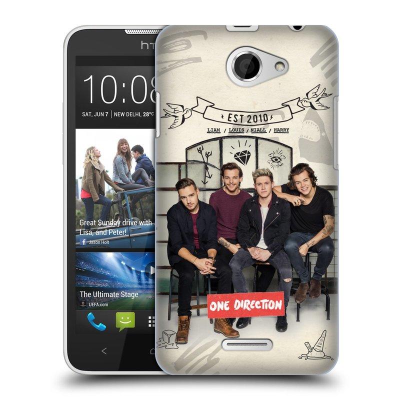 Plastové pouzdro na mobil HTC Desire 516 HEAD CASE One Direction - EST 2010 (Kryt či obal One Direction Official na mobilní telefon HTC Desire 516 Dual SIM)