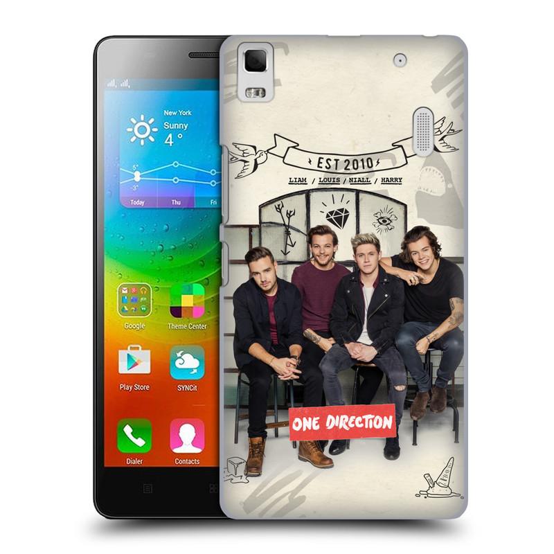 Plastové pouzdro na mobil Lenovo A7000 HEAD CASE One Direction - EST 2010 (Kryt či obal One Direction Official na mobilní telefon Lenovo A7000 / K3 Note)