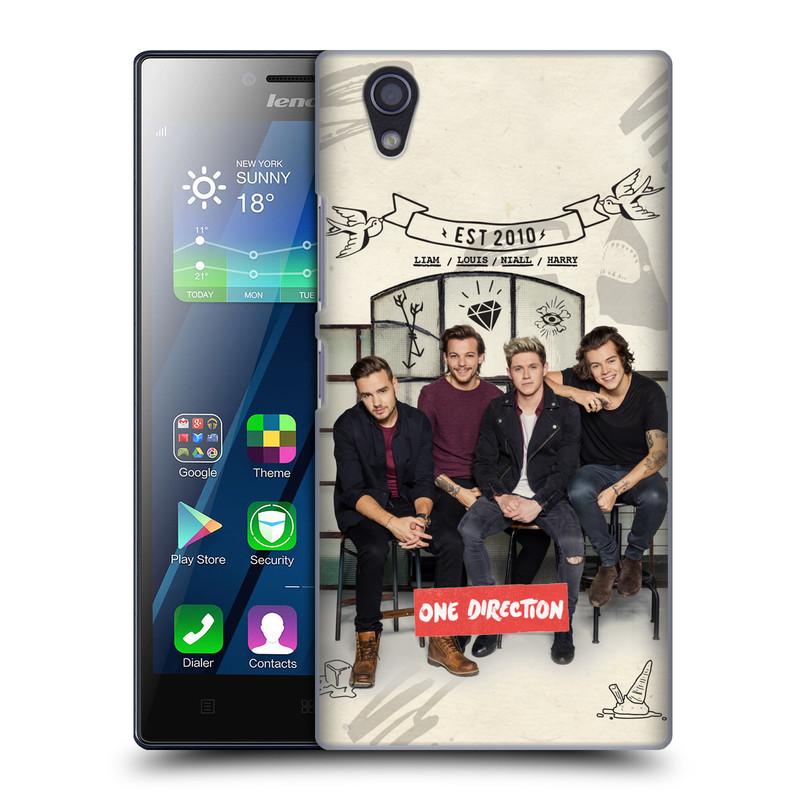Plastové pouzdro na mobil Lenovo P70 HEAD CASE One Direction - EST 2010 (Kryt či obal One Direction Official na mobilní telefon Lenovo P70)