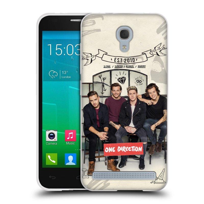 Silikonové pouzdro na mobil Alcatel One Touch Idol 2 Mini S 6036Y HEAD CASE One Direction - EST 2010 (Silikonový kryt či obal One Direction Official na mobilní telefon Alcatel Idol 2 Mini S OT-6036Y)