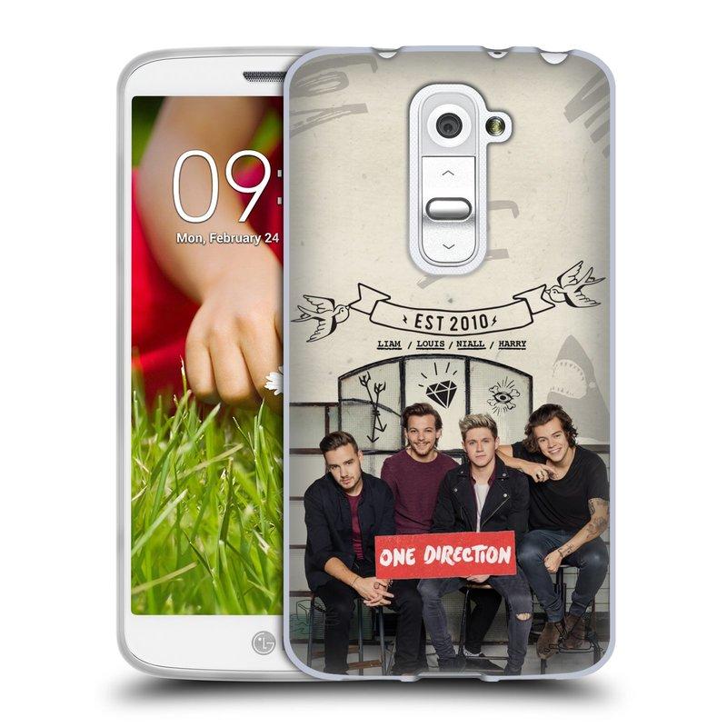 Silikonové pouzdro na mobil LG G2 Mini HEAD CASE One Direction - EST 2010 (Silikonový kryt či obal One Direction Official na mobilní telefon LG G2 Mini D620)