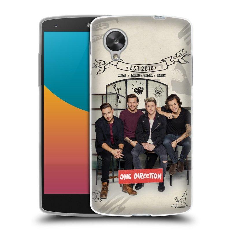 Silikonové pouzdro na mobil LG Nexus 5 HEAD CASE One Direction - EST 2010 (Silikonový kryt či obal One Direction Official na mobilní telefon LG Google Nexus 5 D821)