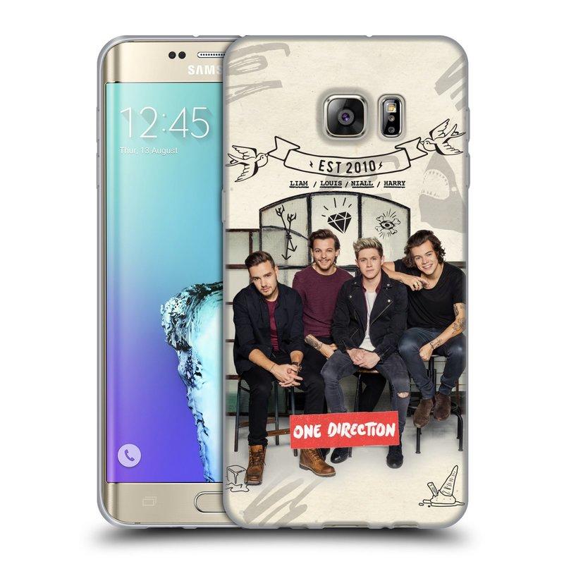 Silikonové pouzdro na mobil Samsung Galaxy S6 Edge Plus HEAD CASE One Direction - EST 2010 (Silikonový kryt či obal One Direction Official na mobilní telefon Samsung Galaxy S6 Edge Plus SM-G928F)