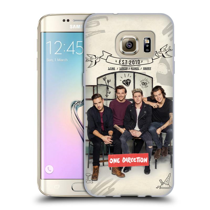 Silikonové pouzdro na mobil Samsung Galaxy S7 Edge HEAD CASE One Direction - EST 2010 (Silikonový kryt či obal One Direction Official na mobilní telefon Samsung Galaxy S7 Edge SM-G935F)