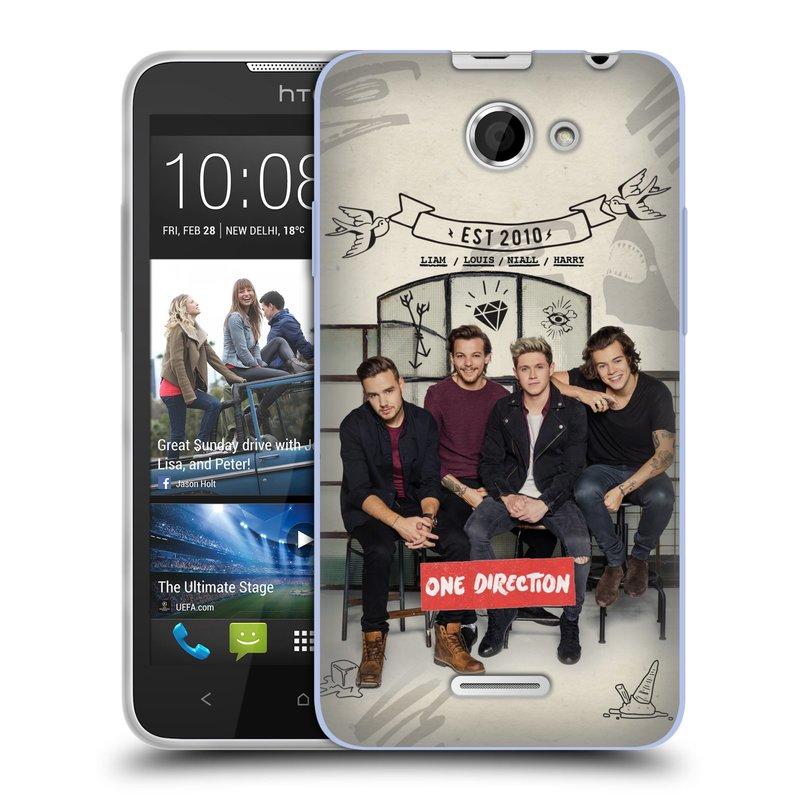 Silikonové pouzdro na mobil HTC Desire 516 HEAD CASE One Direction - EST 2010 (Silikonový kryt či obal One Direction Official na mobilní telefon HTC Desire 516 Dual SIM)