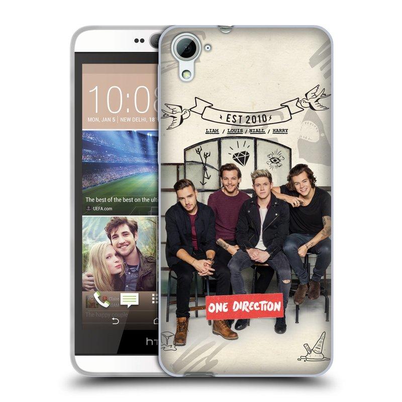 Silikonové pouzdro na mobil HTC Desire 826 HEAD CASE One Direction - EST 2010 (Silikonový kryt či obal One Direction Official na mobilní telefon HTC Desire 826 Dual SIM)
