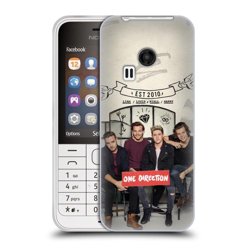 Silikonové pouzdro na mobil Nokia 220 HEAD CASE One Direction - EST 2010 (Silikonový kryt či obal One Direction Official na mobilní telefon Nokia 220 a 220 Dual SIM)