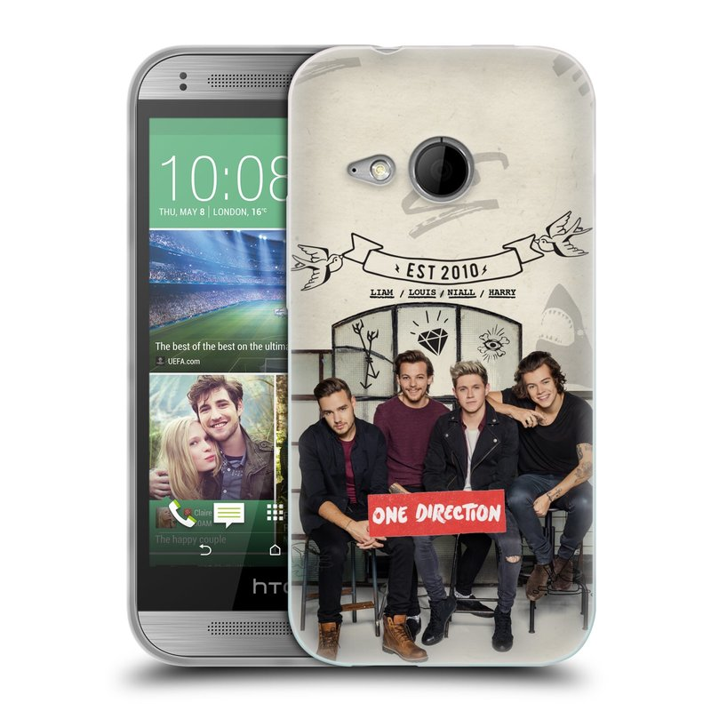 Silikonové pouzdro na mobil HTC ONE Mini 2 HEAD CASE One Direction - EST 2010 (Silikonový kryt či obal One Direction Official na mobilní telefon HTC ONE Mini 2)