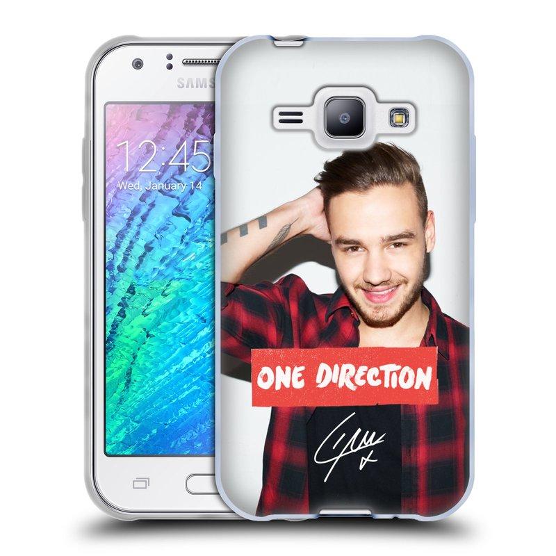 Silikonové pouzdro na mobil Samsung Galaxy J1 HEAD CASE One Direction - Liam (Silikonový kryt či obal One Direction Official na mobilní telefon Samsung Galaxy J1 a J1 Duos)