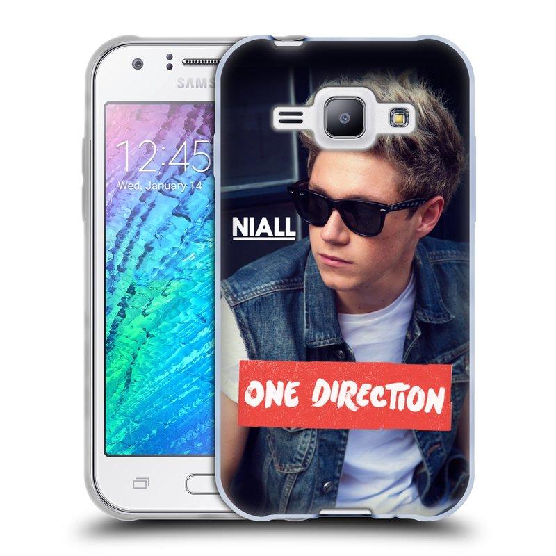 Silikonové pouzdro na mobil Samsung Galaxy J1 HEAD CASE One Direction - Niall (Silikonový kryt či obal One Direction Official na mobilní telefon Samsung Galaxy J1 a J1 Duos)