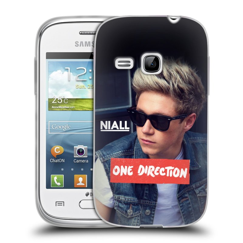 Silikonové pouzdro na mobil Samsung Galaxy Young HEAD CASE One Direction - Niall (Silikonový kryt či obal One Direction Official na mobilní telefon Samsung Galaxy Young GT-S6310)