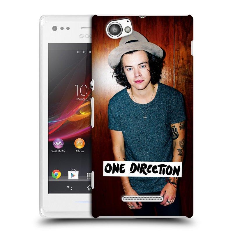 Plastové pouzdro na mobil Sony Xperia M C1905 HEAD CASE One Direction - Harry (Kryt či obal One Direction Official na mobilní telefon Sony Xperia M )