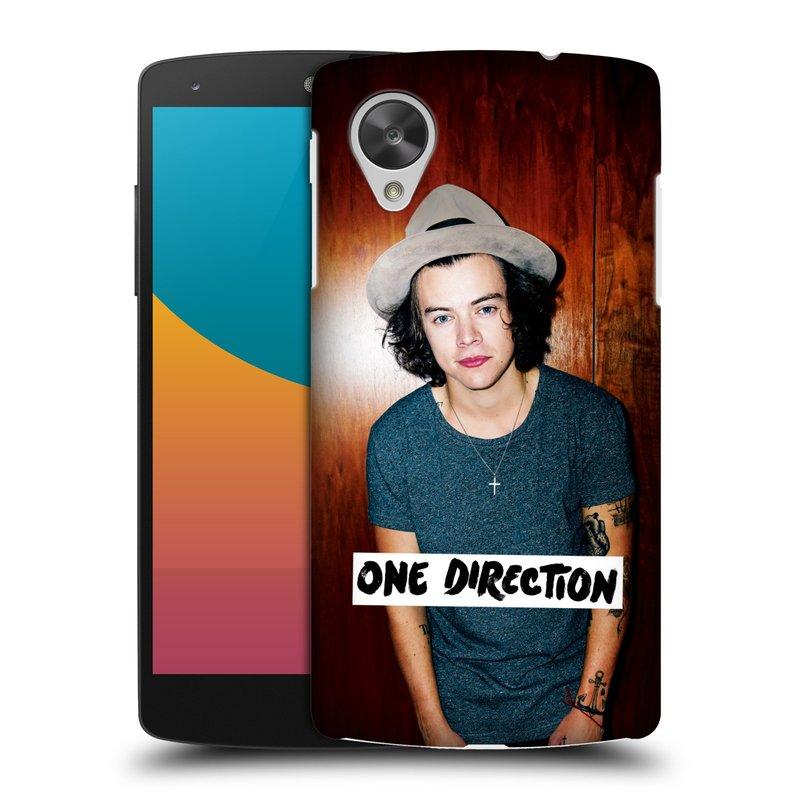 Plastové pouzdro na mobil LG Nexus 5 HEAD CASE One Direction - Harry (Kryt či obal One Direction Official na mobilní telefon LG Google Nexus 5 D821)