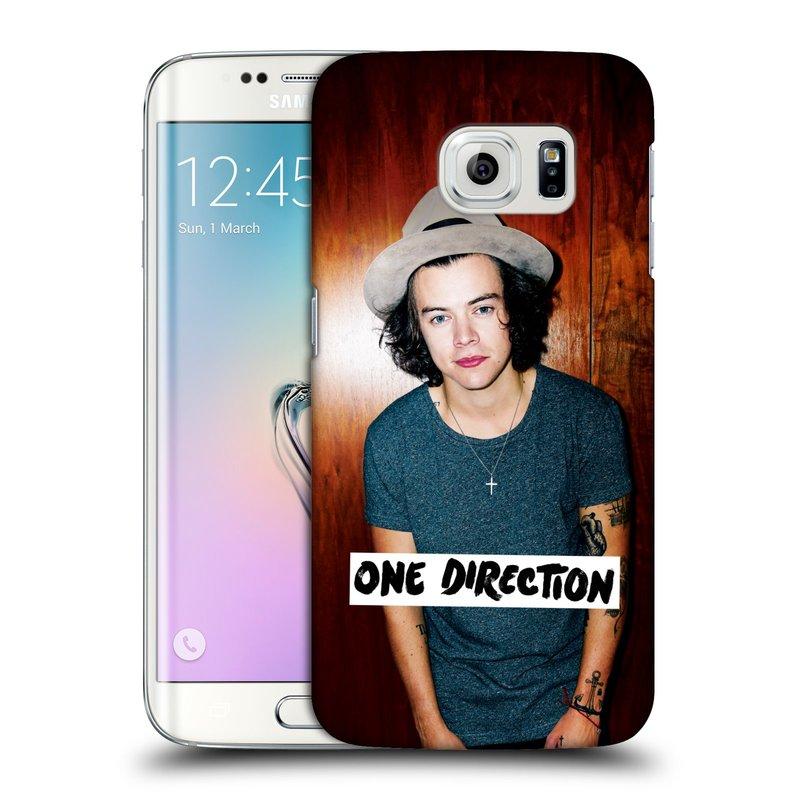 Plastové pouzdro na mobil Samsung Galaxy S6 Edge HEAD CASE One Direction - Harry (Kryt či obal One Direction Official na mobilní telefon Samsung Galaxy S6 Edge SM-G925F)