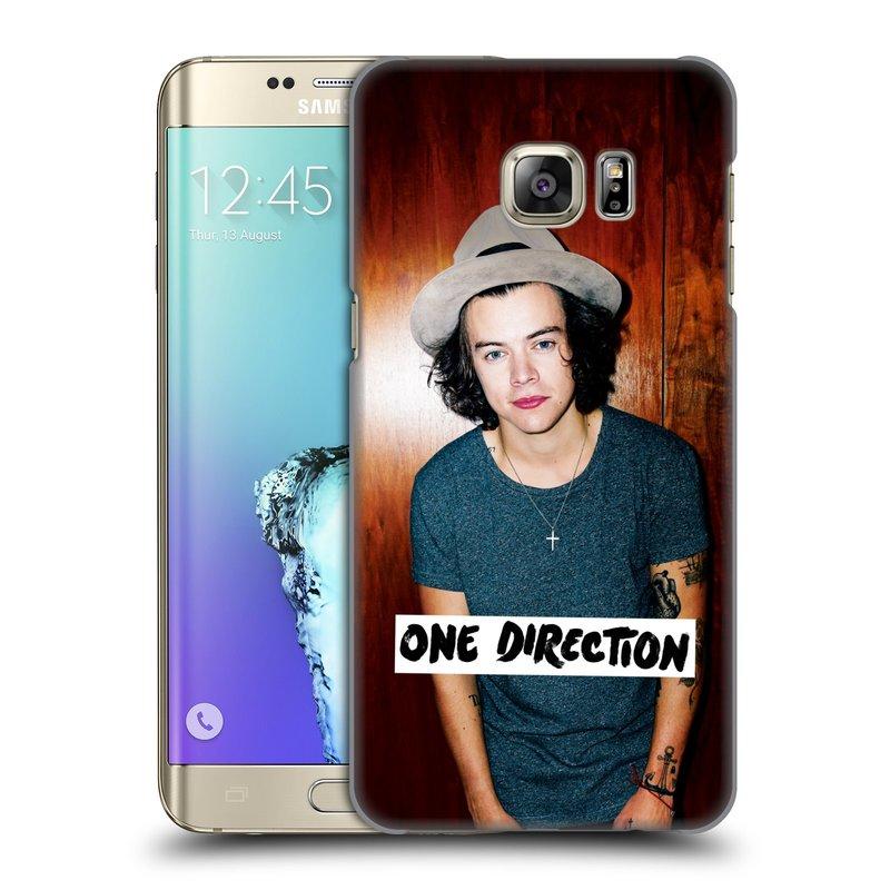 Plastové pouzdro na mobil Samsung Galaxy S6 Edge Plus HEAD CASE One Direction - Harry (Kryt či obal One Direction Official na mobilní telefon Samsung Galaxy S6 Edge Plus SM-G928F)
