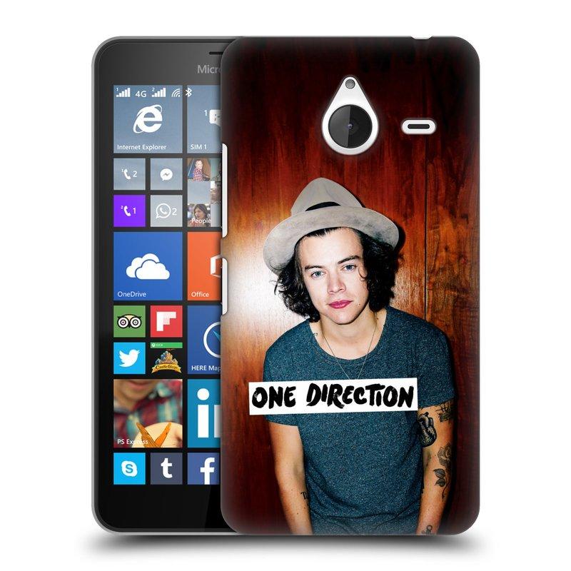 Plastové pouzdro na mobil Microsoft Lumia 640 XL HEAD CASE One Direction - Harry (Kryt či obal One Direction Official na mobilní telefon Microsoft Lumia 640 XL)