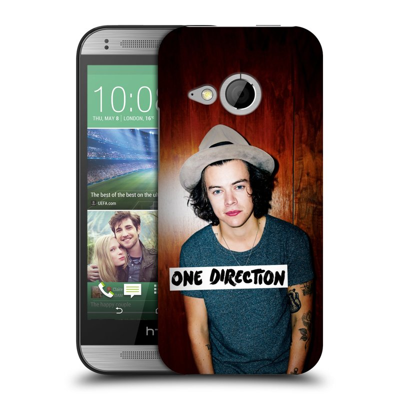Plastové pouzdro na mobil HTC ONE Mini 2 HEAD CASE One Direction - Harry (Kryt či obal One Direction Official na mobilní telefon HTC ONE Mini 2)